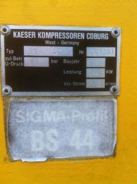 Schraubenkompressor KAESER SIGMA - PROFIT BS 44 1982-Bild 3