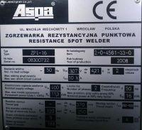 Zgrzewarka punktowa ASPA ZPI-16 2008-Zdjęcie 11