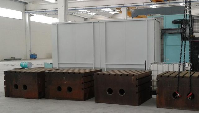 Wytaczarka pozioma Cubi fissaggio pezzi 1500 x 1500 x H. 900 mm / 5,3 Ton. 1999