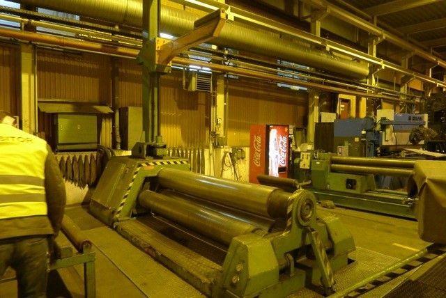 4-Walzen-Blecheinrollmaschine ROUNDO PAS 340 1991