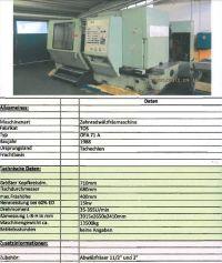 Gear Hobbing Machine TOS OFA 71 A
