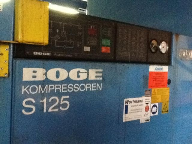 Schraubenkompressor Boge S 125 1992