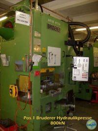 H Frame Hydraulic Press BRUDERER LIENHAAS DWP AR 09 63-80