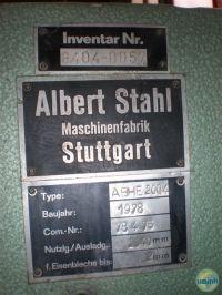 Schwenkbiegemaschine für die Blech ALBER STAHL ABHE 200/4 1978-Bild 2