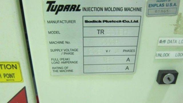 Plastics Injection Molding Machine SODICK TR 220 EH 2002