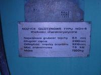 Nożyce gilotynowe hydrauliczne PLASOMAT NGH 6/3100 1989-Zdjęcie 2