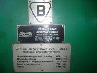 Nożyce gilotynowe hydrauliczne PLASOMAT NGH 6/3100 1996-Zdjęcie 4