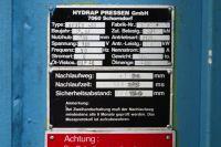H Frame Hydraulic Press 400 ton HYDRAP PRESSEN (OWNER/SELLER) 1987-Photo 12