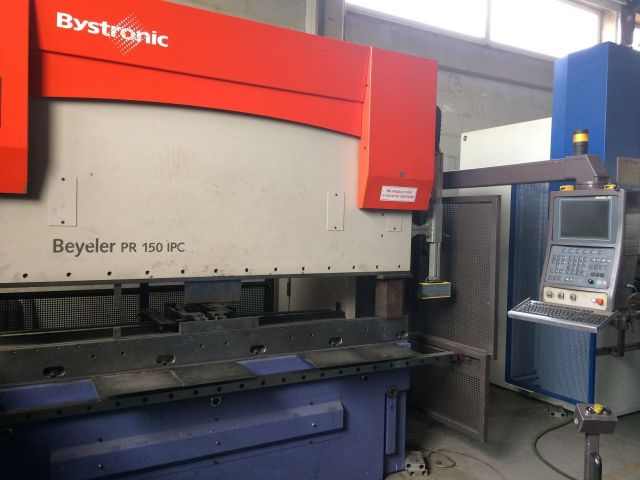 CNC Hydraulic Press Brake BYSTRONIC Beyeler PR 150 IPC 2005