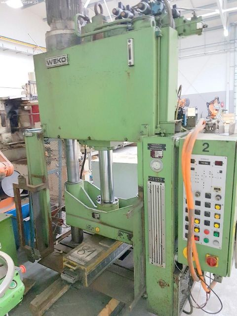 H Frame Hydraulic Press WEKO WE 680-2-20 1997