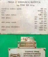 H Frame Hydraulic Press FPA PXW 100 AAb 1980-Photo 6