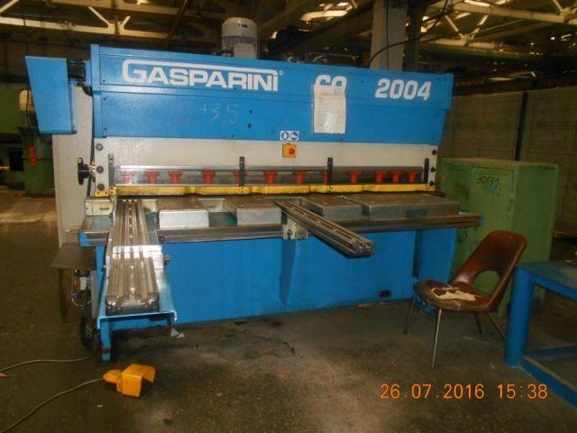 Nożyce gilotynowe hydrauliczne GASPARINI CO2004 2008