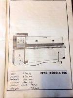 Nożyce gilotynowe mechaniczne STROJARNE PIESOK NTC 2500/4 1986-Zdjęcie 6