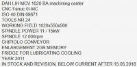 Centrum frezarskie pionowe CNC DAH LIH MCV 1020 BA 2011-Zdjęcie 7
