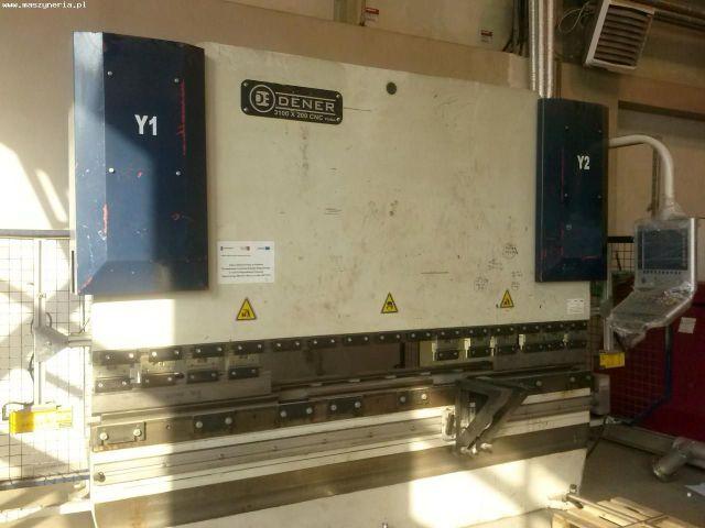 CNC hydraulický ohraňovací lis DENER PUMA CNC 3100 X 200 2012