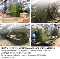 Heavy Duty Lathe KRAMATORSK 1A676