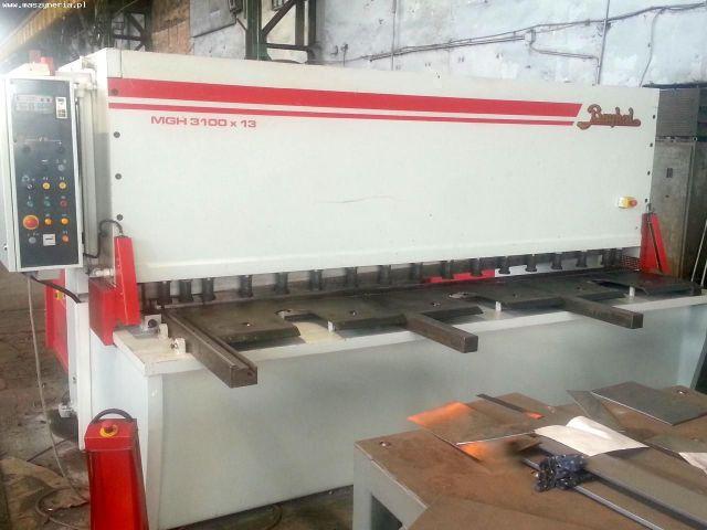 NC Hydraulic Guillotine Shear BAYKAL MGH 3100 X 13 2012