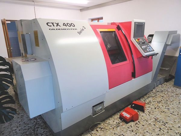 CNC Automatic Lathe Gildemeister CTX 400 Serie 2 1999