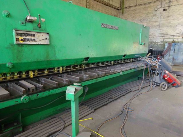 Hydraulic Guillotine Shear SCHARRINGHAUSEN HSTO 10/6100 1980