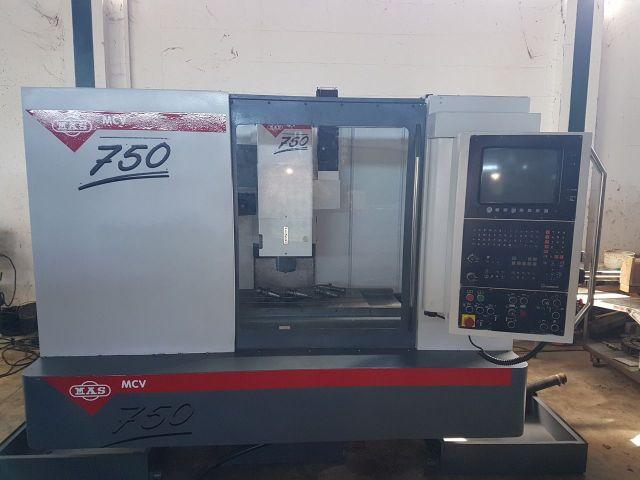 CNC centro de usinagem vertical MAS MCV750 1997