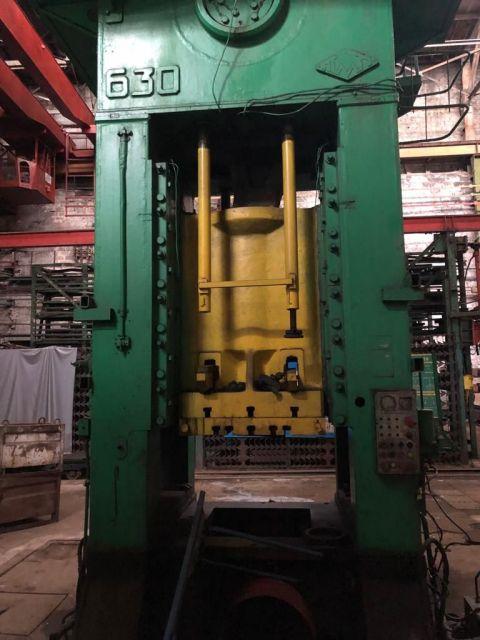 H Frame Press TMP VORONEZH K2538 630 ton 1980