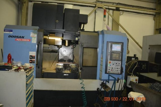 CNC Horizontal Machining Center DOOSAN MYNX 5400/50 2010