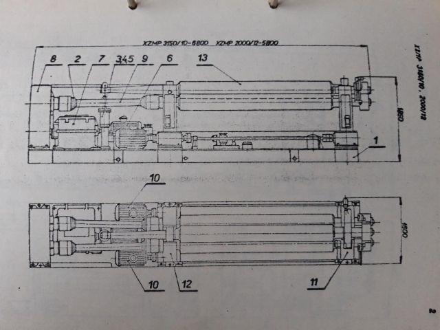 Cilindradora con 3 rodillos STROJARNE PIESOK XZMP 3150 / 16 1982