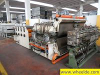 Фронтальный вилочный погрузчик Omam second hand line width 2000 mm for PP corrugated sheet extrusion
