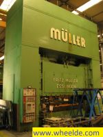 CNC kantbank Muller hidraulic press 3300 tons nuot Muller hidraulic press 3300 tons nuot
