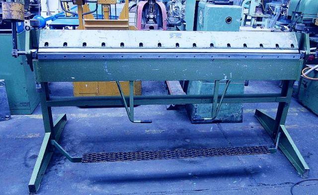 Folding Machines for sheet metal GEFI KH  5 x 2000 1990