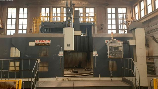 CNC svislý soustruh YOU JI MACHINE INDUSTRIAL CO. VTL-4500 ATC+C 2015