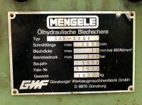 Cizalla guillotina hidráulica GWF MENGELE S10-3000 1988-Foto 4