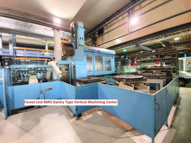CNC Vertical Machining Center FOREST-LINE BMO Gantry Type Vertical Machining Center 1990