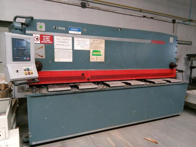 Hydraulic Guillotine Shear DURMA VS 3006 2010