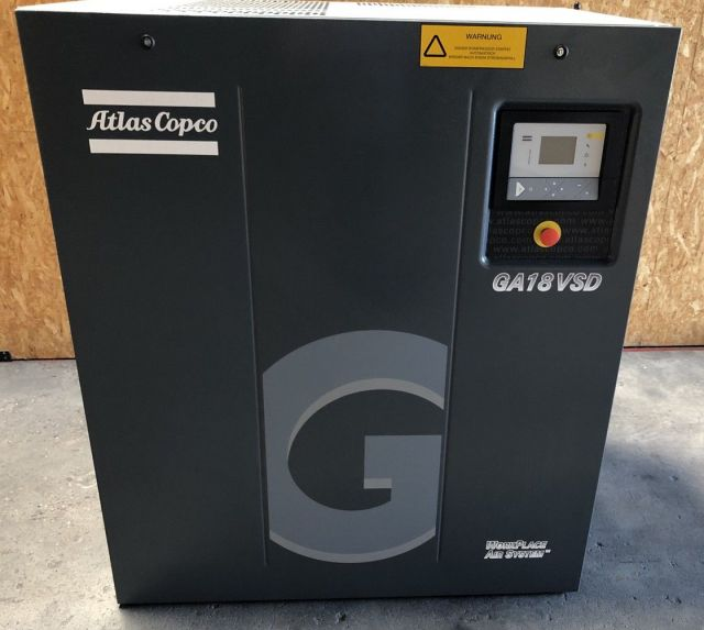 Screw Compressor ATLAS COPCO GA 18 VS D 2011