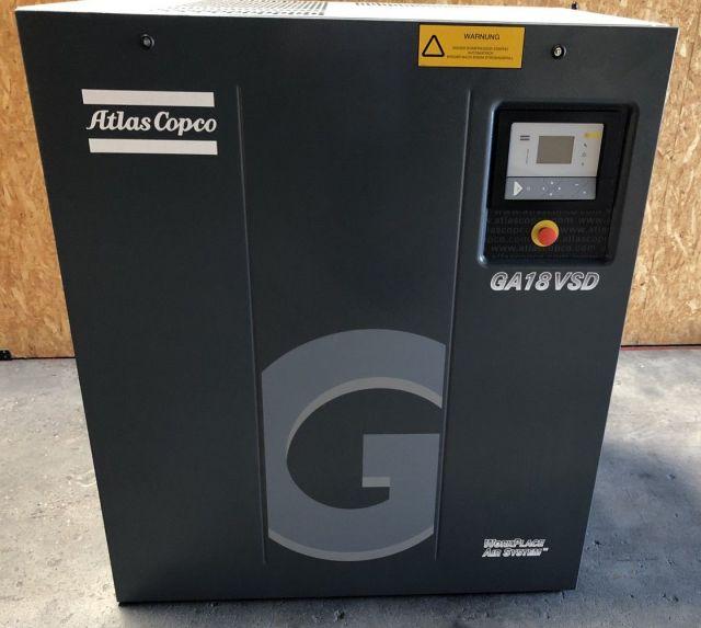 Compresor de tornillo ATLAS COPCO GA 18 VS D 2011