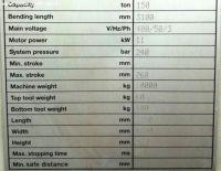 Prasa kraw?dziowa hydrauliczna CNC BAYKAL APHS 3108 X 150 2005-Zdj?cie 19