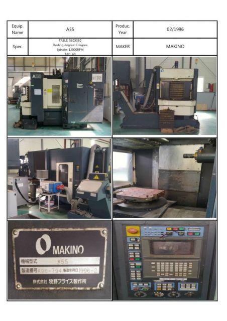 CNC 수직형 머시닝 센터 MAKINO A55 1996