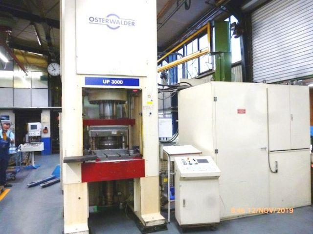 C Frame Hydraulic Press OSTERWALDER UP 3000 MS - 300 t. 1993