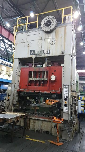 H Frame Press ERFURT PKZZ 500/2800 1976
