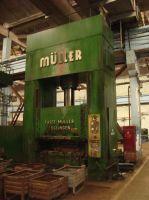 Horizontal Hydraulic Press Fritz Muller Esslingen ZE-600-20
