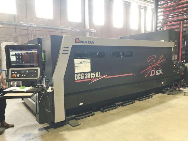 Laserschneide 2D AMADA LCG 3015 AJ  FIBER  6 Kw 2016