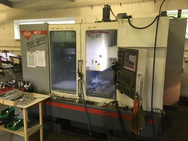 CNC Vertical Machining Center MAS MCV 1000 Quick 2004