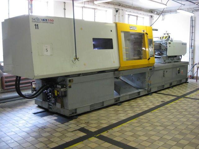 Plast injeksjon molding machine Woojin Selex S 350 2003