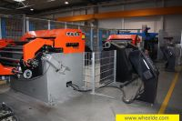 Ironworker Machine Utting flat sheets from main coils cutting flat sheets from main coils