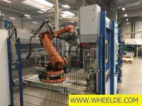 Máquina de solda costura Spot welding cell Spot welding cell