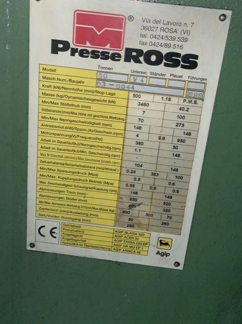 Prasa mimośrodowa PRESSE  ROSS V50 1999