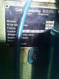 Prasa mimośrodowa GOITI MFR-80