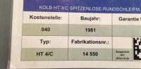 Außen-Rundschleifmaschine KOLB HT 4/C 1981-Bild 4