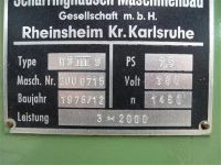 Cesoia a ghigliottina meccanica SCHARRINGHAUSEN HS III S